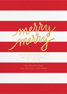 Twice as Merry - Sugar Paper - Holiday invitations