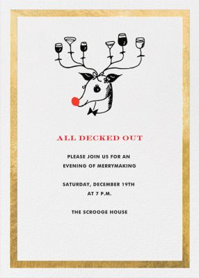 Reindeer Cocktails - kate spade new york - Holiday invitations