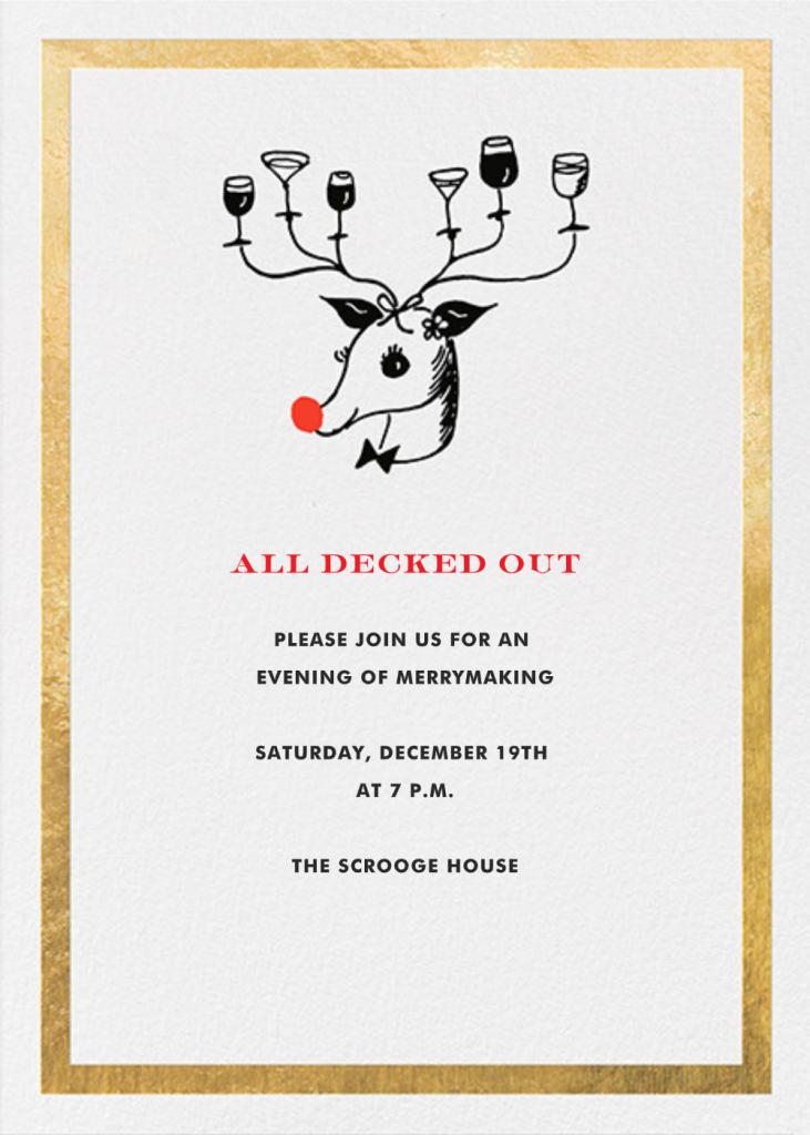 Reindeer Cocktails - Gold - kate spade new york
