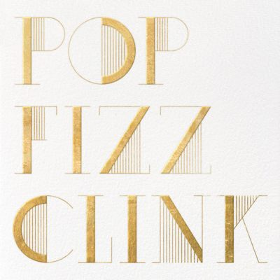 Pop Fizz Clink (Square) - kate spade new york - Winter Party Invitations