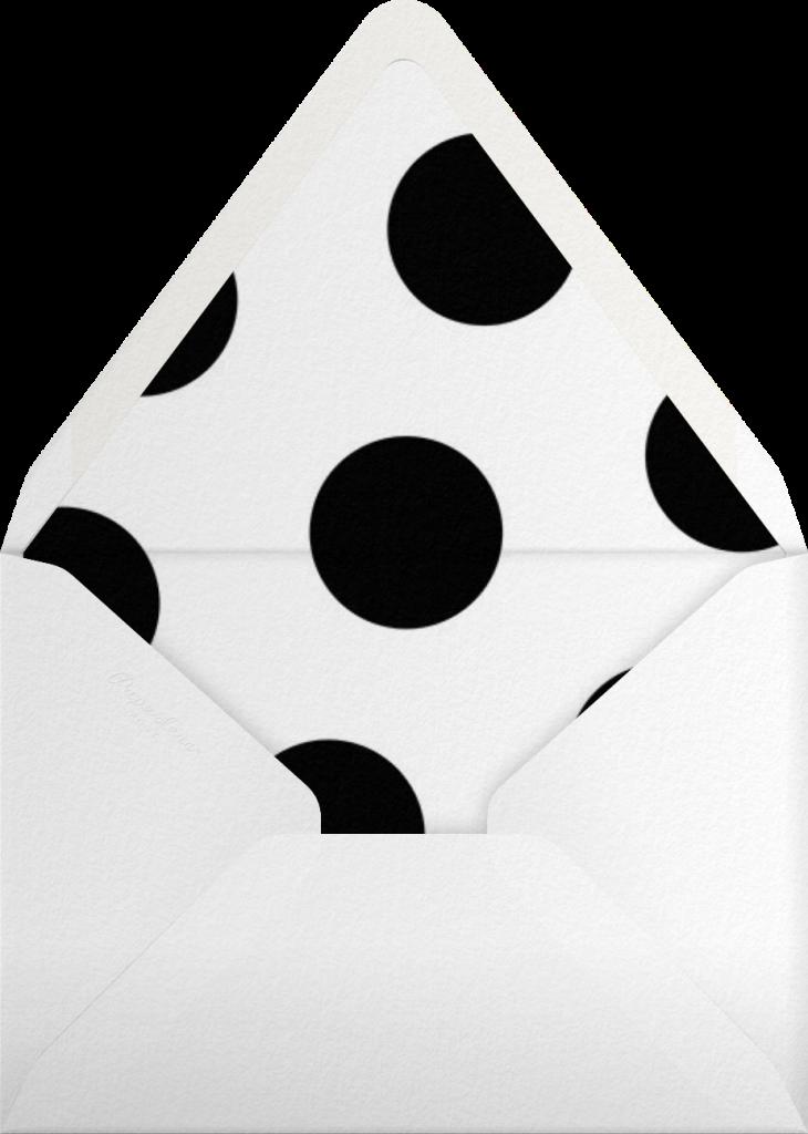 Wood Grain Color Block - Black - Paperless Post - Envelope
