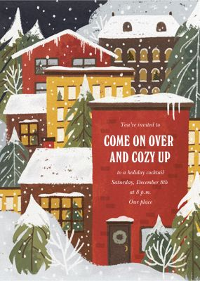 Snow Place Like Home - Paperless Post - Holiday invitations
