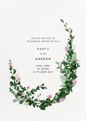 Rosedal - Paperless Post - Spring Party Invitations