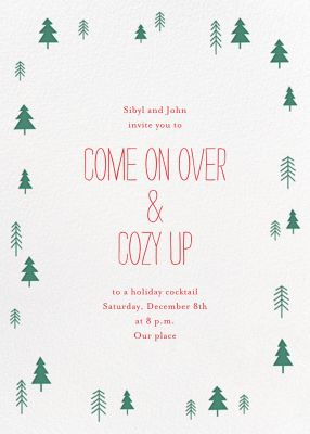 Tiny Town Forest - Little Cube - Holiday invitations