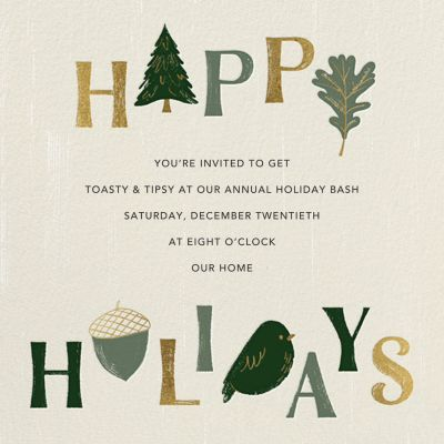 Forest Finds - Paperless Post - Holiday invitations