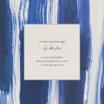 Brushstroke - Oscar de la Renta - Holiday invitations