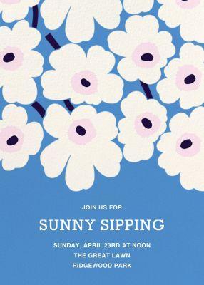 Unikko (Tall) - Marimekko - Spring Party Invitations