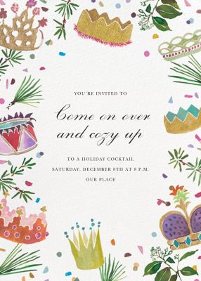 A Crowning Achievement - Happy Menocal - Holiday invitations