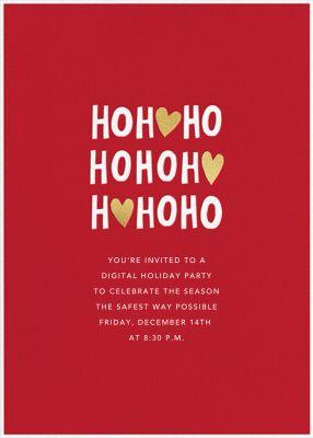 Ho Ho Hearts - Sugar Paper - Virtual Parties