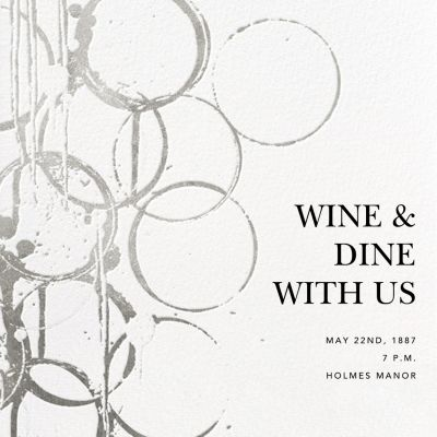 Bottle Shock - Kelly Wearstler - Holiday invitations