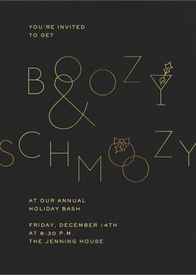 Boozy and Schmoozy - Paperless Post - Holiday invitations