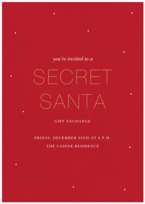 Not-so-Little Secret - Sugar Paper - Holiday invitations