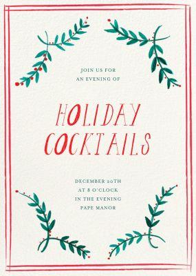 Seasonal Trimmings - Mr. Boddington's Studio - Holiday invitations