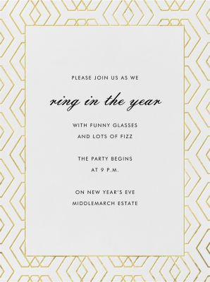 Deco Diamond - Paperless Post - New Year's Eve Invitations