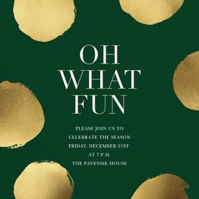 Holiday Superscale Dot - Sugar Paper - Holiday invitations