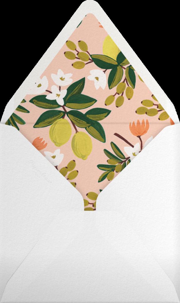 Citrus Orchard - Yellow - Rifle Paper Co. - Envelope