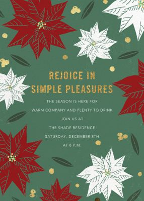 Red Gold and Green - Paperless Post - Holiday invitations