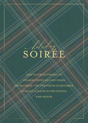 Tartan Soirée - Sugar Paper - Holiday invitations