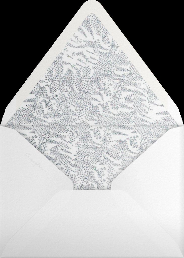Crystal Pines (Invitation) - White - Paperless Post - Envelope