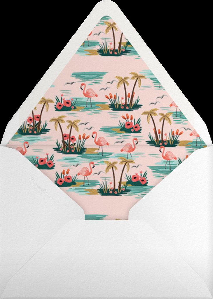 Flamingo Lagoon (Tall) - Rifle Paper Co. - Envelope
