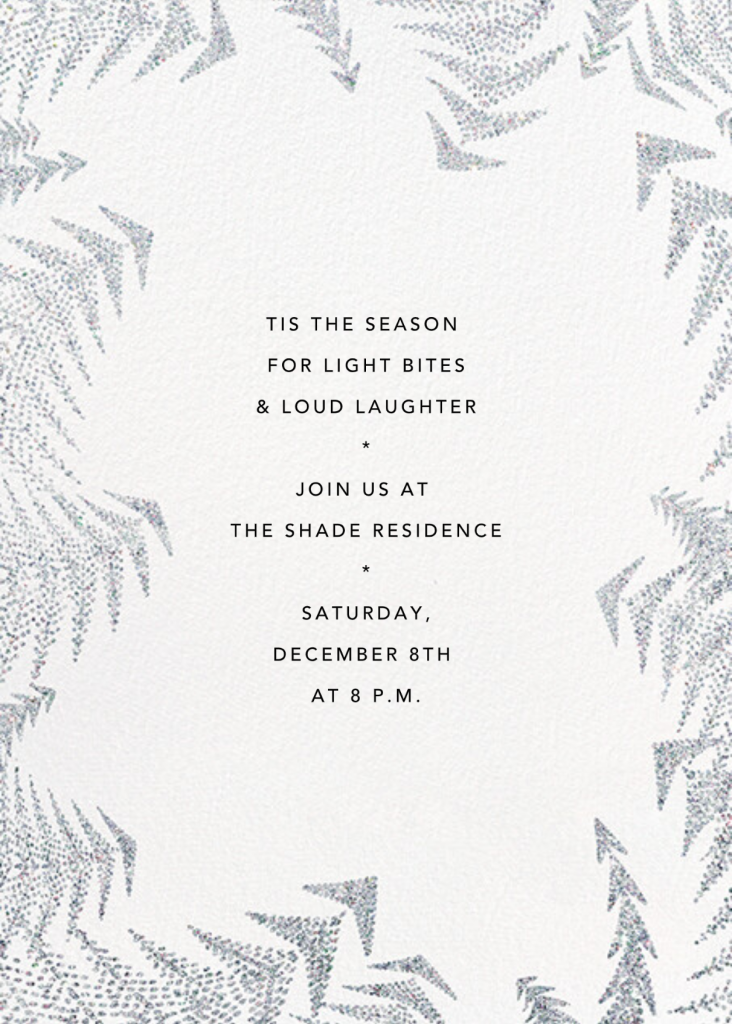 Crystal Pines (Invitation) - White - Paperless Post