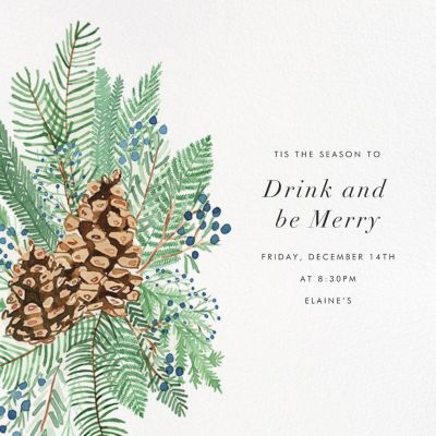 Pine and Juniper - Paperless Post - Holiday invitations