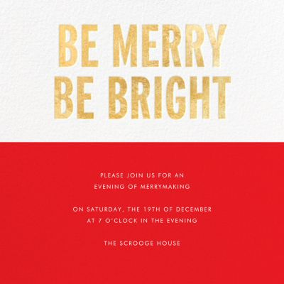 Be Merry Be Bright - kate spade new york - Holiday invitations