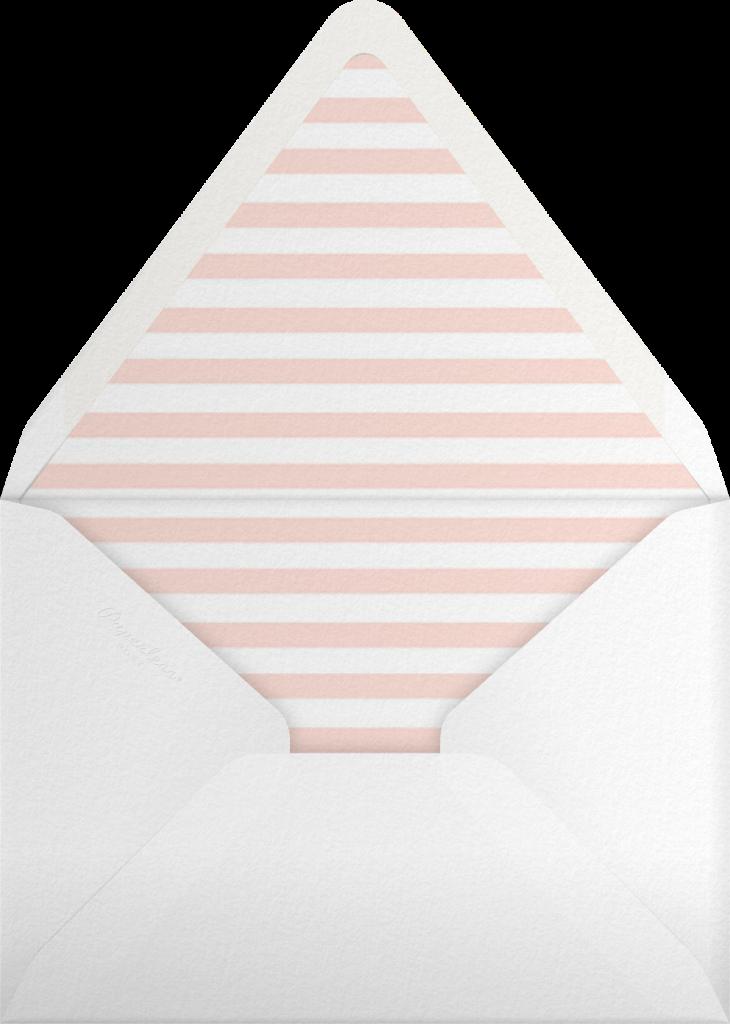 Plume (Tall) - Meringue/Gold - Paperless Post - Envelope