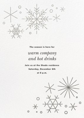 No Two Alike - Paperless Post - Holiday invitations