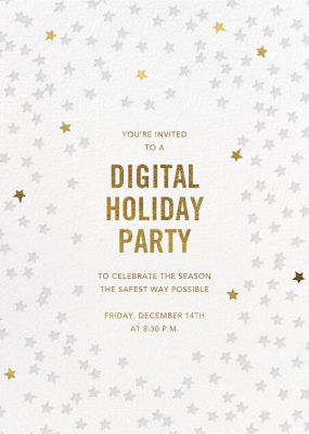 Starry Party - Sugar Paper - Holiday invitations
