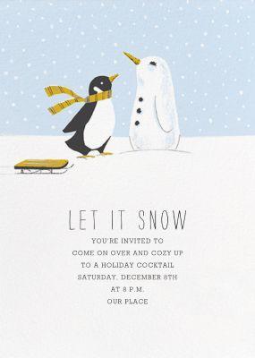 Snowbird - Paperless Post - Winter Party Invitations