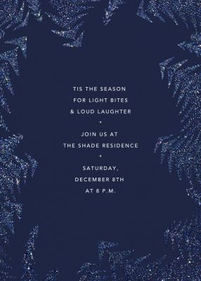 Crystal Pines - Paperless Post - Holiday invitations