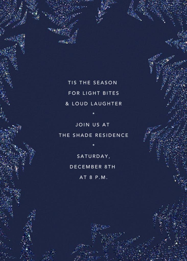 Crystal Pines (Invitation) - Dark Blue - Paperless Post