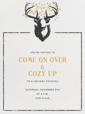 Antler Tangle - Paperless Post - Holiday invitations