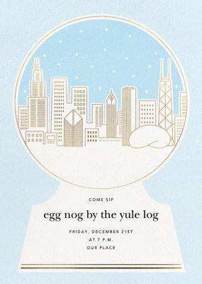 Skyline Snowglobe - Paperless Post