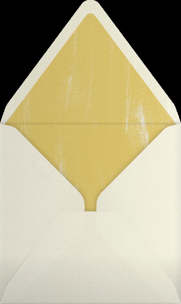 Watercolor - Indigo - Oscar de la Renta - Envelope