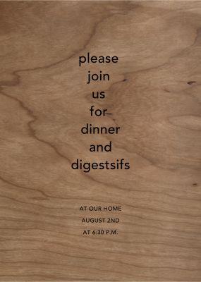 Wood Grain Light - Paperless Post
