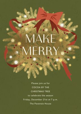 Twinkling and Tangled - Paperless Post - Holiday invitations