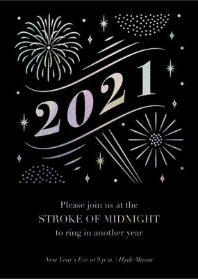 A Glowing New Year (Tall) - Paperless Post
