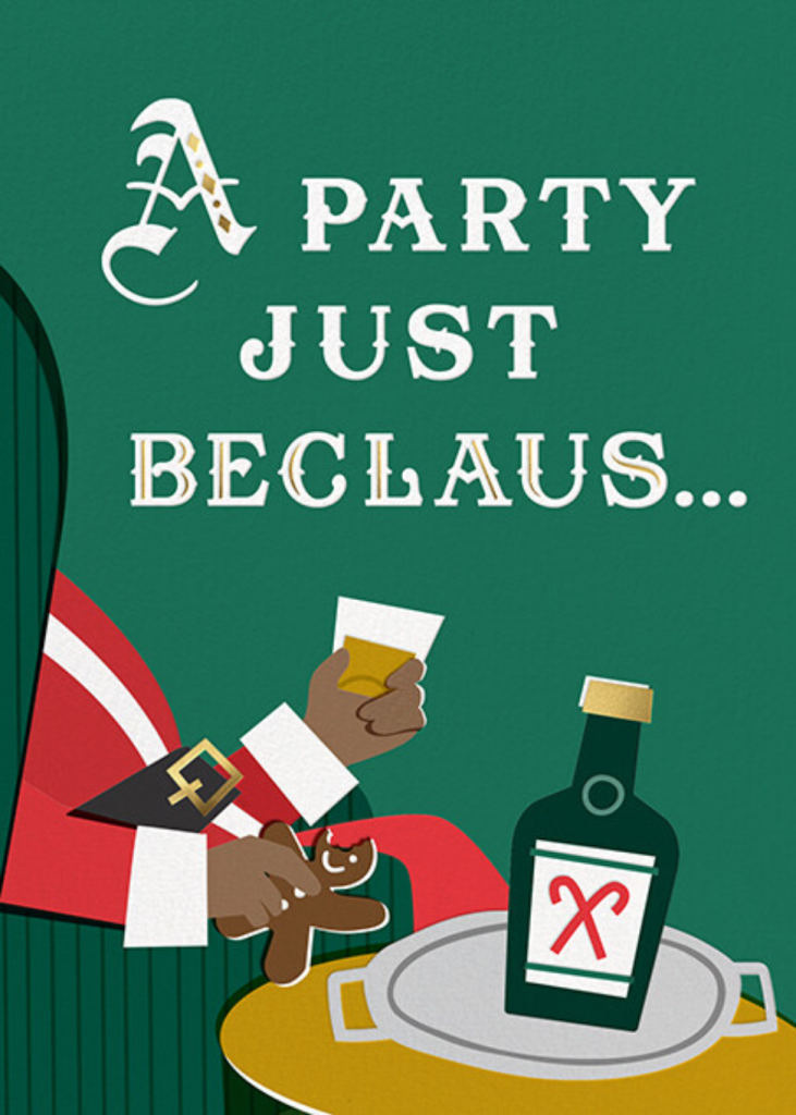 Party Just Beclaus - Tan - Cheree Berry Paper & Design