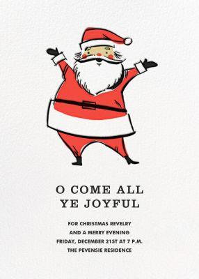 Retro Santa (Invitation) - Hello!Lucky