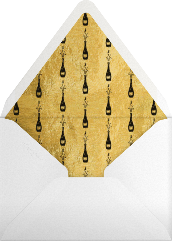 Feeling Bubbly - Paperless Post - Envelope