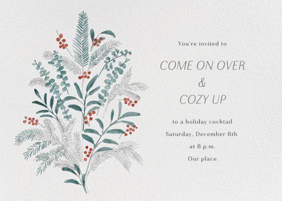 Seasonal Sprigs - Paperless Post - Holiday invitations