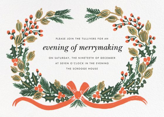 Holiday Greens - Rifle Paper Co. - Holiday invitations