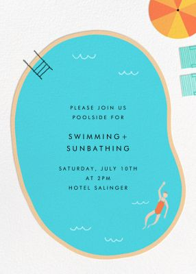 Maude's Pool - Paperless Post - Summer Party Invitations