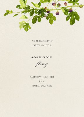 Fig Branches (Invitation) - Felix Doolittle