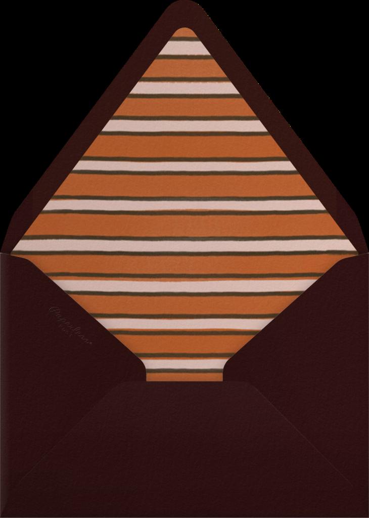 Forsythia (Horizontal) - Pumpkin - Paperless Post - Envelope