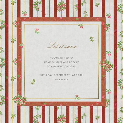 Cybele - Brock Collection - Holiday invitations