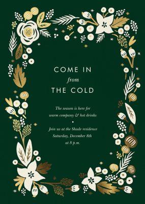 Poinsettia Wreath (Tall) - Rifle Paper Co. - Holiday invitations
