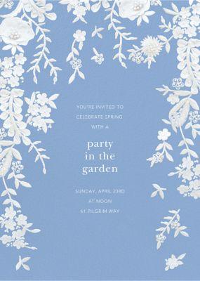 Fleurs d'Alencon - Oscar de la Renta - Spring Party Invitations